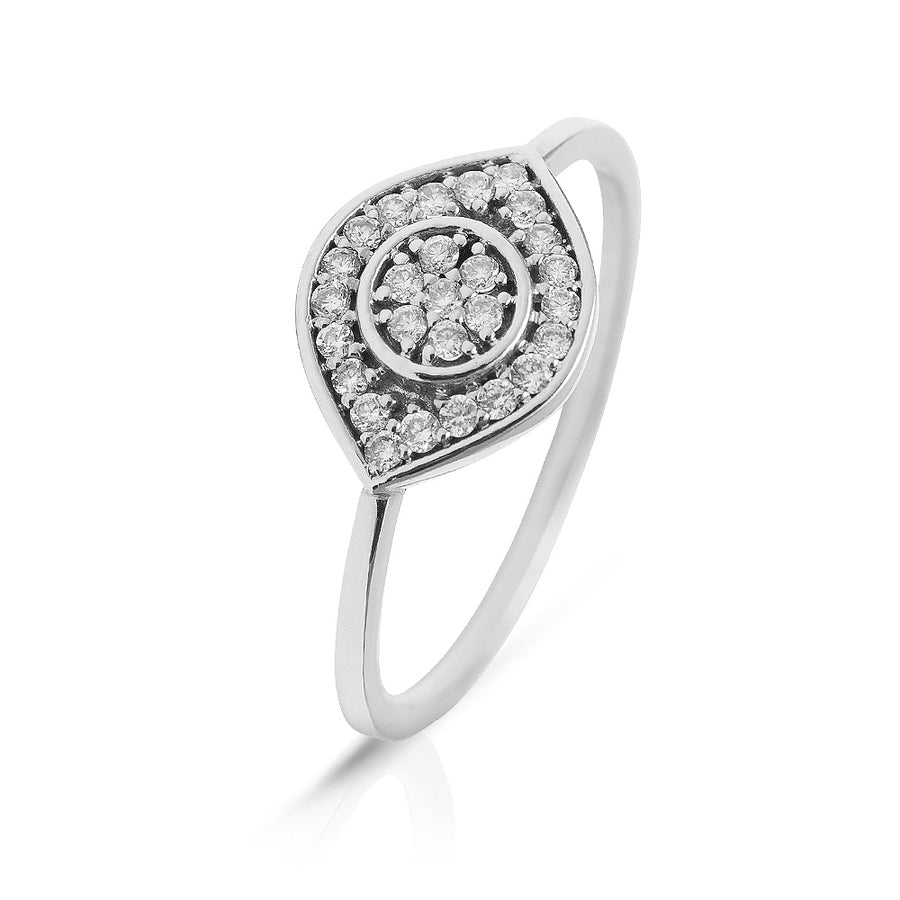 Eye See You Diamond Ring White Gold