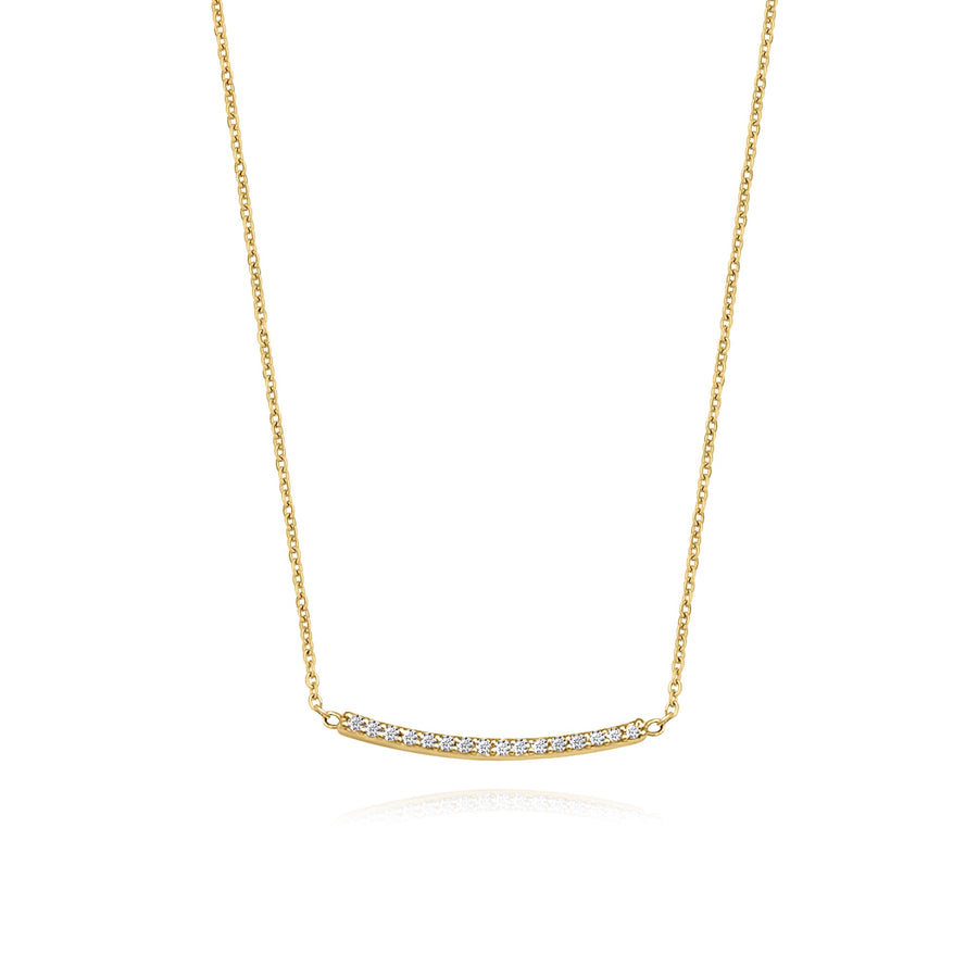 Diamond Smile Bar Necklace