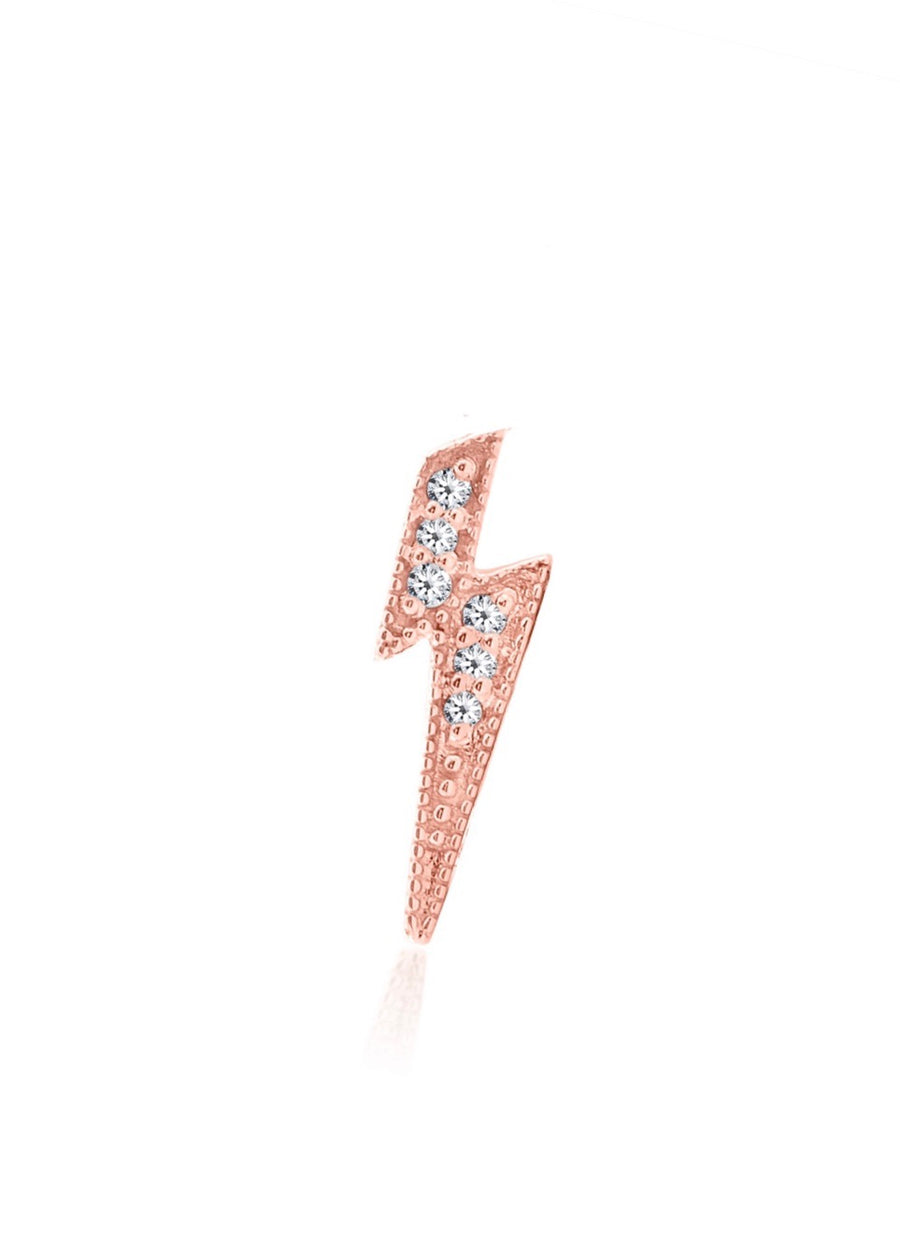 Diamond Lightning Earring 14kt Gold