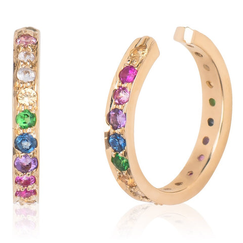 Rainbow Ear Cuff Yellow Gold