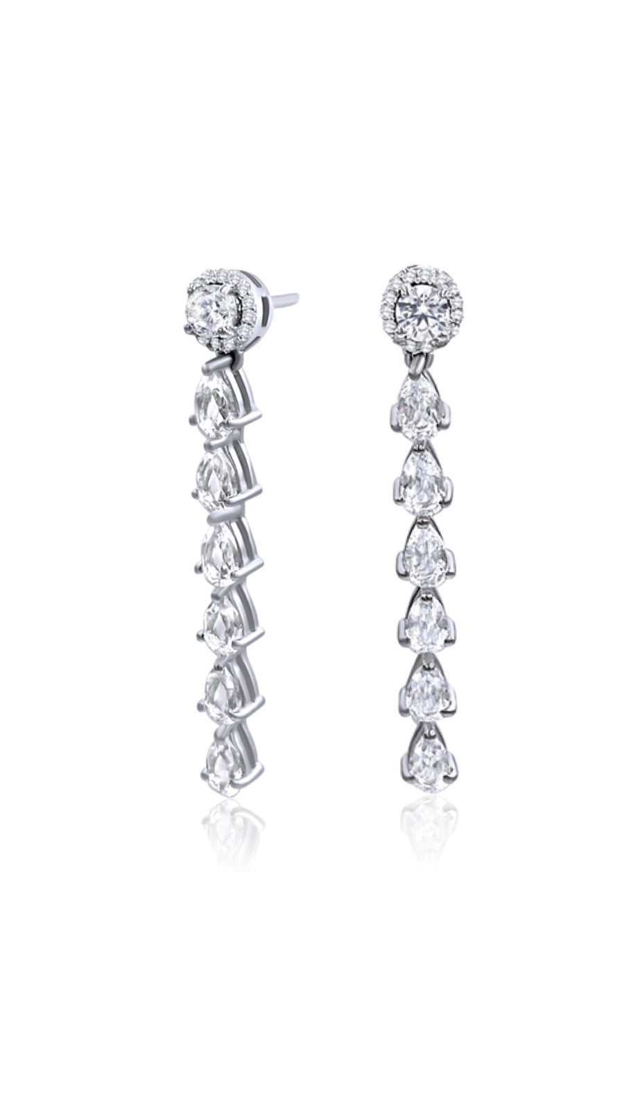 Diamonds White Topaz Earring