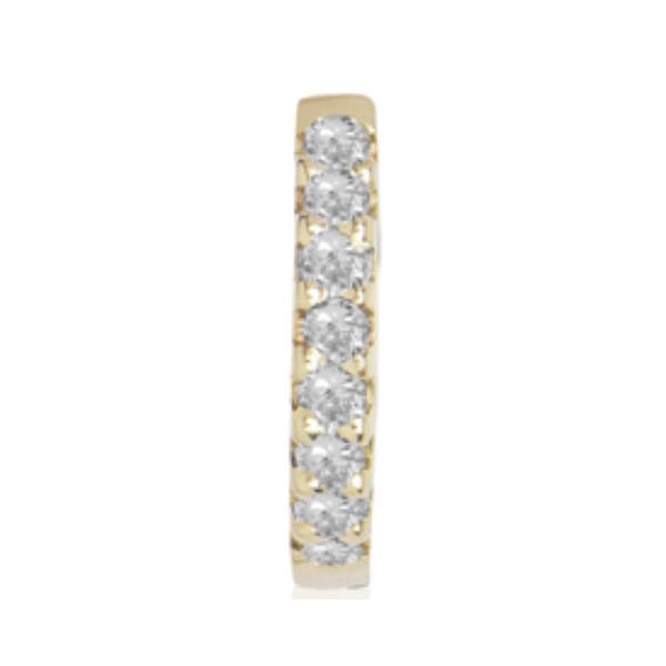 Diamond Eternity Huggie M