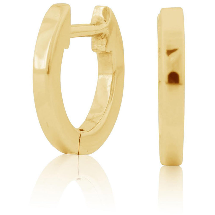 Eternity Huggie Simple 14 KT Gold