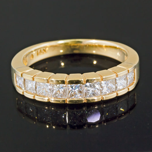 14KT Yellow Gold Fabulous Round Cut 3.60Ct Solitaire With AccentsWomen/'s Ring