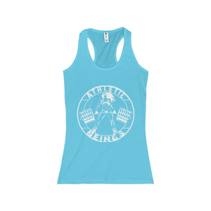 Women's tight-fit Racerback Tank - Athletic Beings