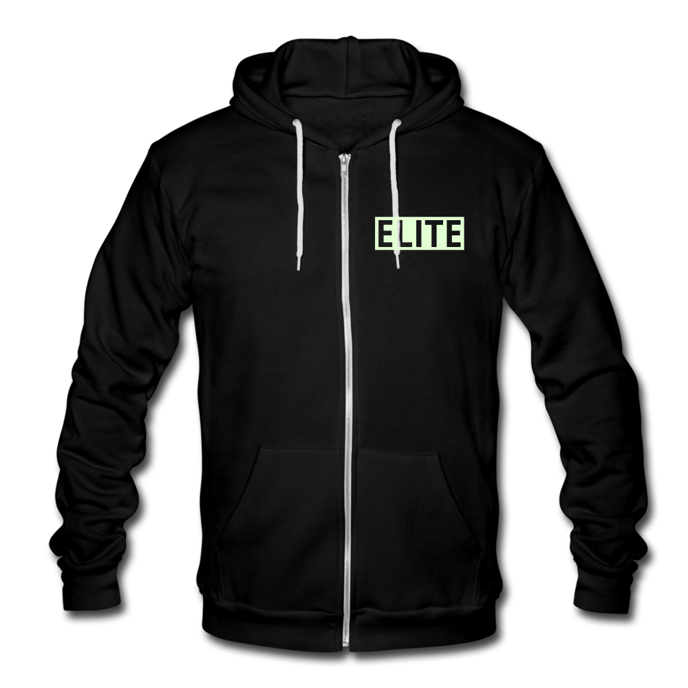 Athletic Beings Fleece Zip Hoodie - black