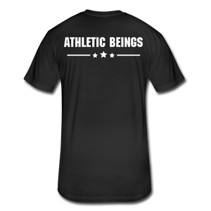 Men's Fitted Tee Train Hard Live Strong - black