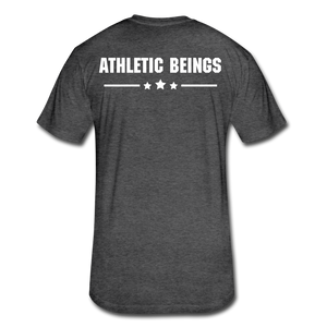 Men's Fitted Tee Train Hard Live Strong - heather black