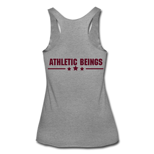 "Women's Tri-Blend Racerback Tank ""No Excuses"" - heather gray"