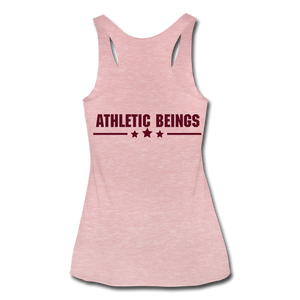 "Women's Tri-Blend Racerback Tank ""No Excuses"" - heather dusty rose"