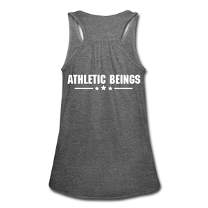 "Women's Flowy Tank ""Beast"" - deep heather"
