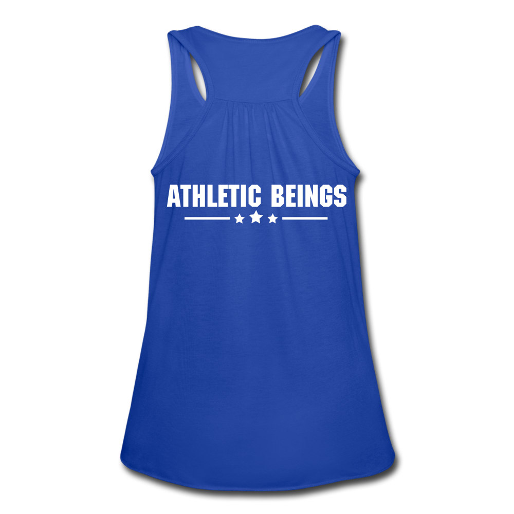 "Women's Flowy Tank ""Beast"" - royal blue"