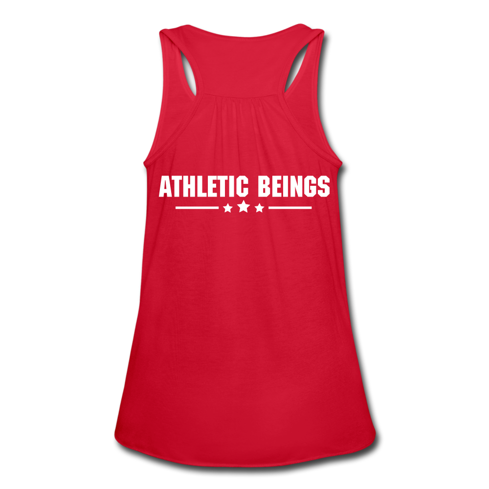 "Women's Flowy Tank ""Beast"" - red"