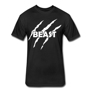 "Men's Fitted Tee ""Beast"" - black"