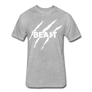 "Men's Fitted Tee ""Beast"" - heather gray"