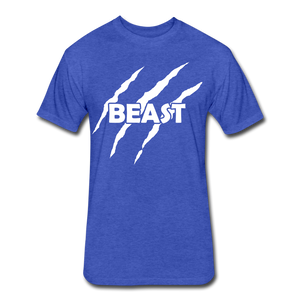 "Men's Fitted Tee ""Beast"" - heather royal"