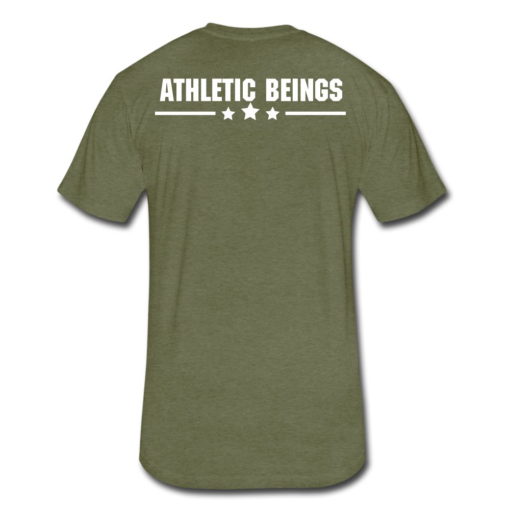 "Men's Fitted Tee ""Beast"" - heather military green"
