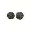 Small Disc Circle Stone Epoxy Stud Earrings