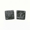 Small Square Stone Epoxy Stud or Clip-On Earrings
