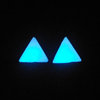 Small Triangle Stone Epoxy Stud Earrings