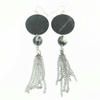 Disc, Bead and Tassel Mash Up Earrings