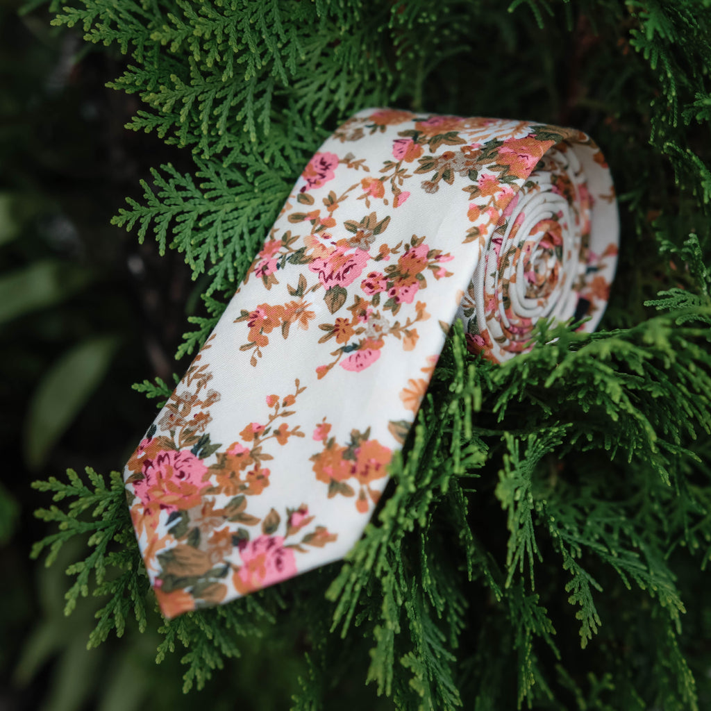 Autumn Floral Tie (Nature Collection)