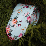 Mint Floral Tie (Nature Collection)