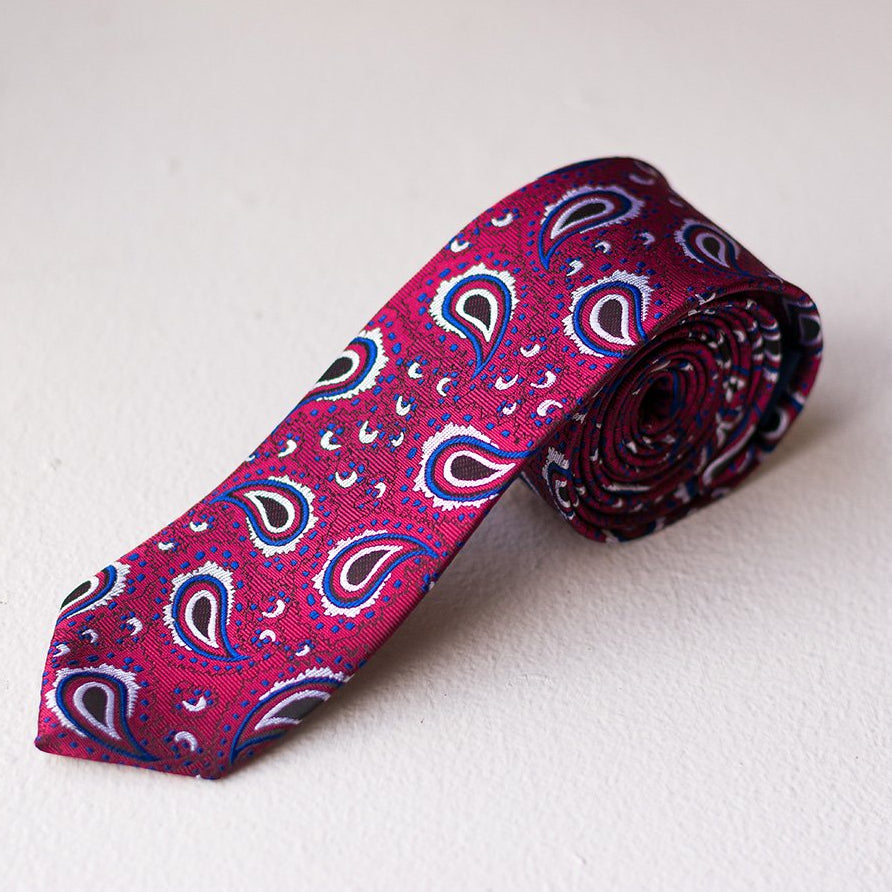 Red Cannon Paisley Tie
