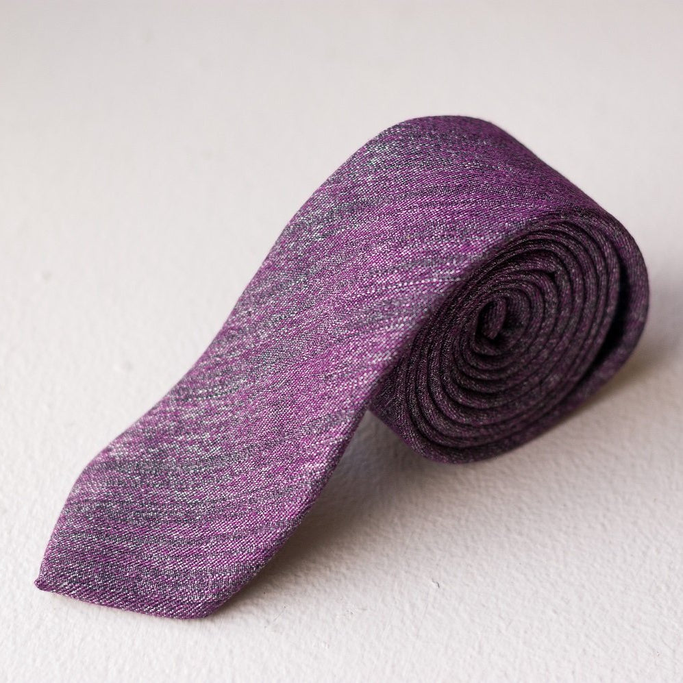 Violet Hill Twill Cotton Tie