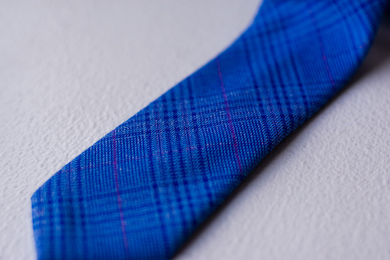 Checkered Cotton Tie