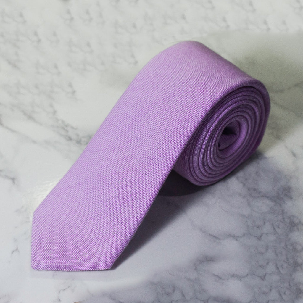 Lavender Oxford Cloth Tie