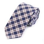Abbey Checked Cotton Tie