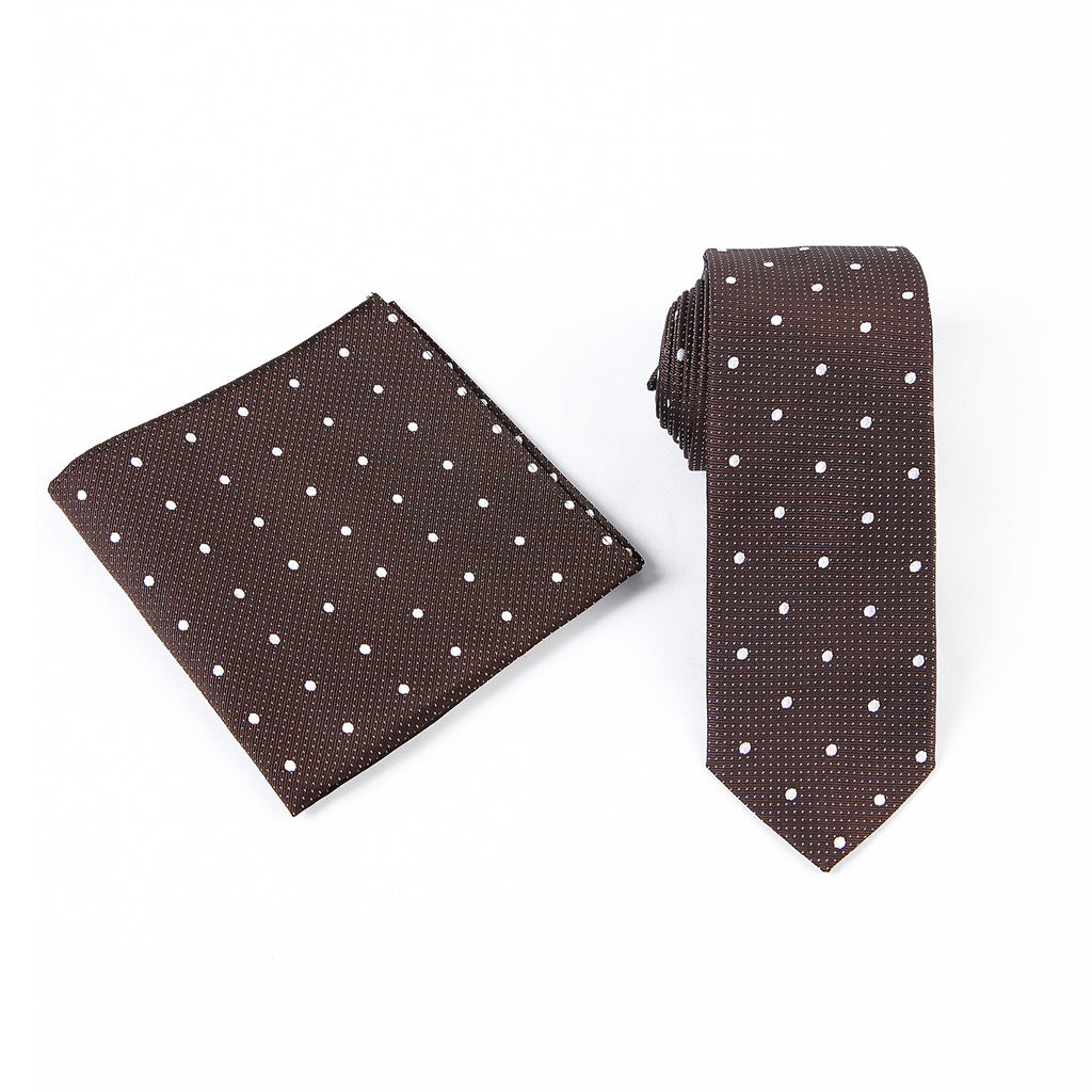 Polka Dotted Silk Tie Set (4 Colors)
