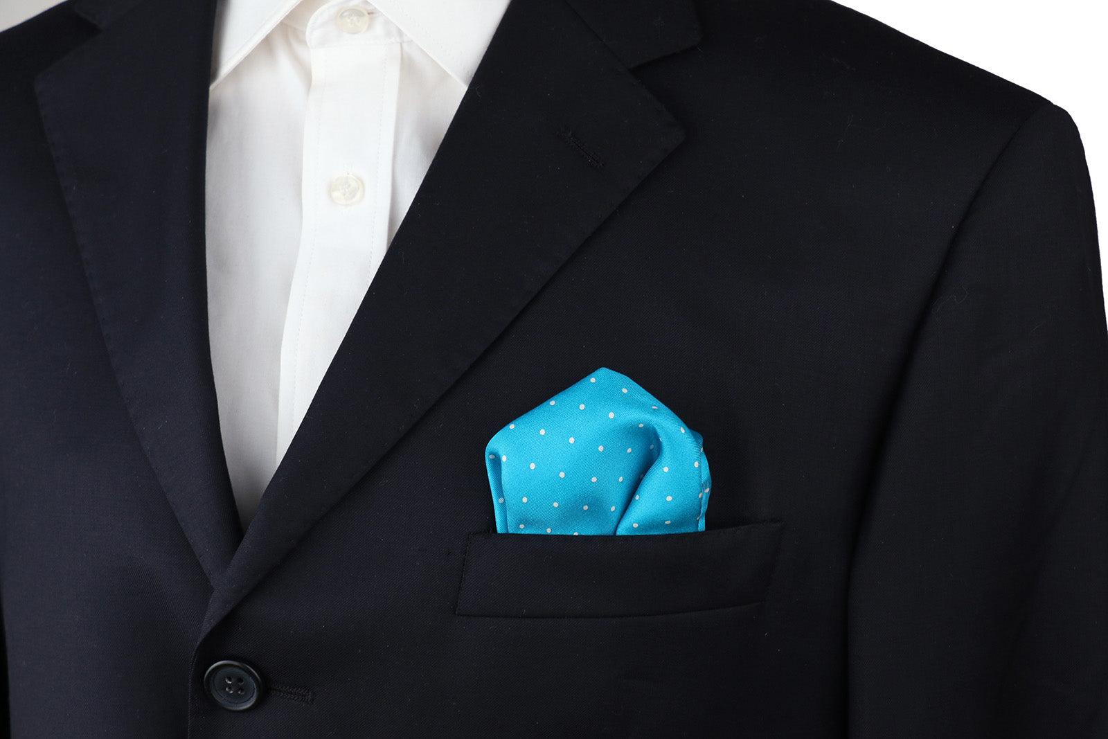 Polka Dot Silk Pocket Square (4 Colors)