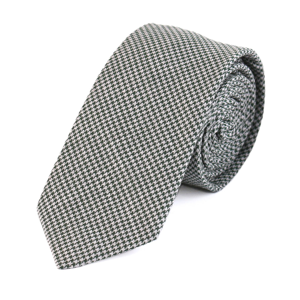 Black Houndstooth Polyester Tie