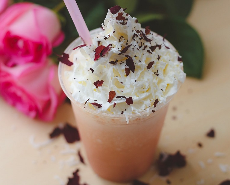 The Coconut Rose Frappe