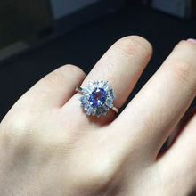 Bague blue tanzanite