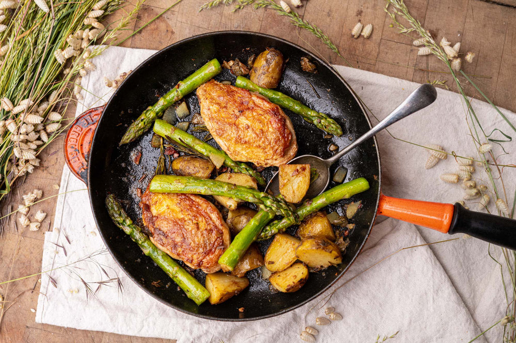 Chicken with Jersey Royals & Asparagus