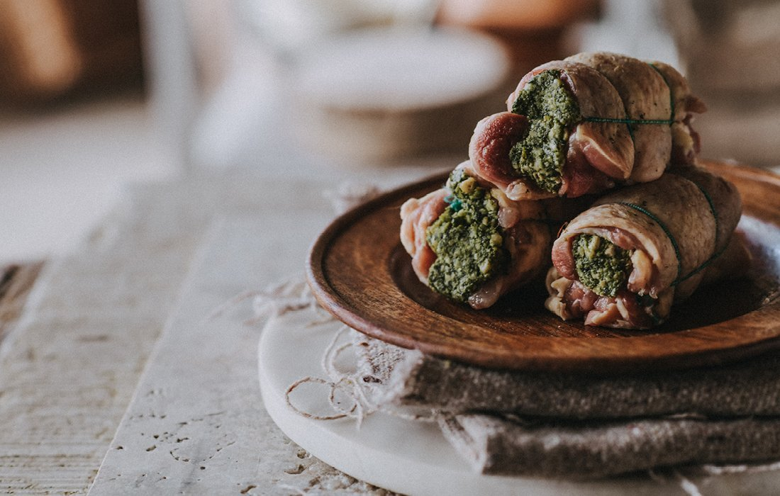 Free Range Pesto Stuffed Chicken Thigh