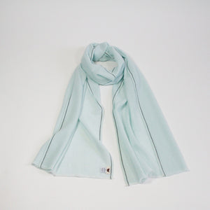 Handwoven Cashmere Scarf Pale Blue