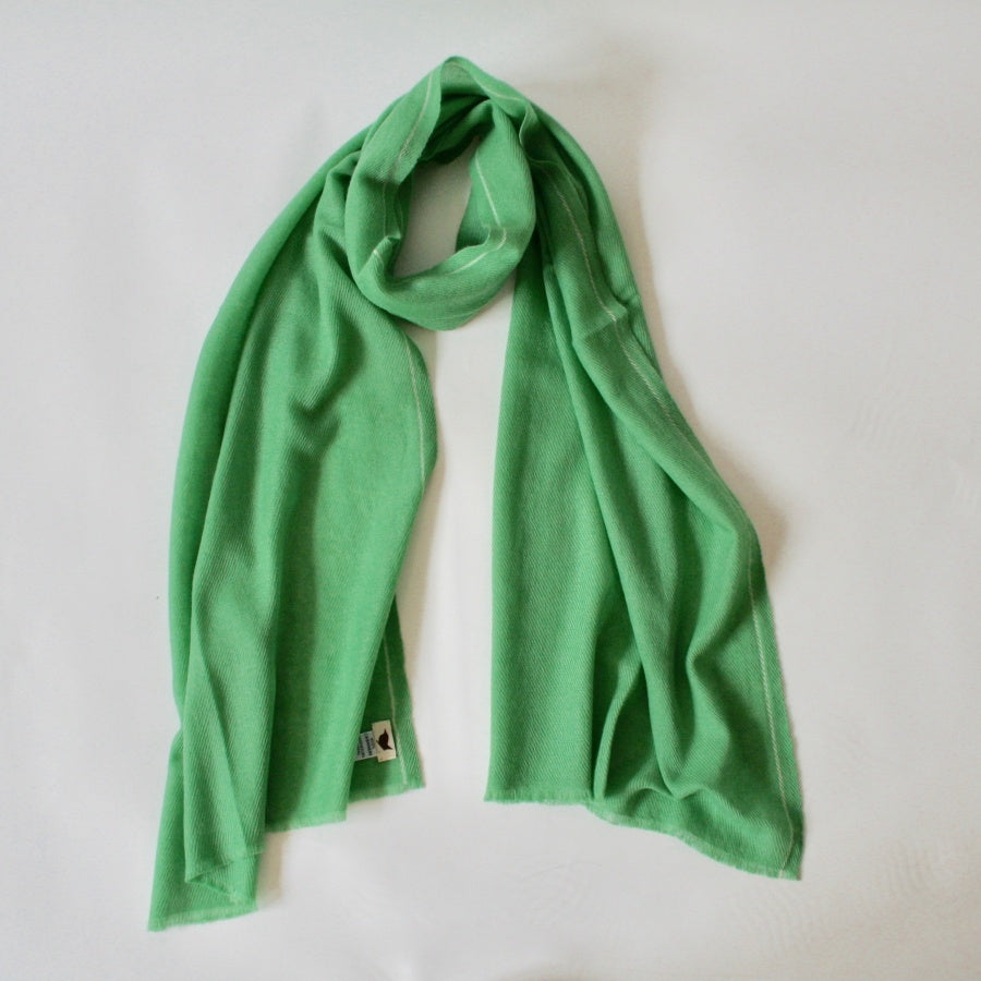 Handwoven Cashmere Scarf Green