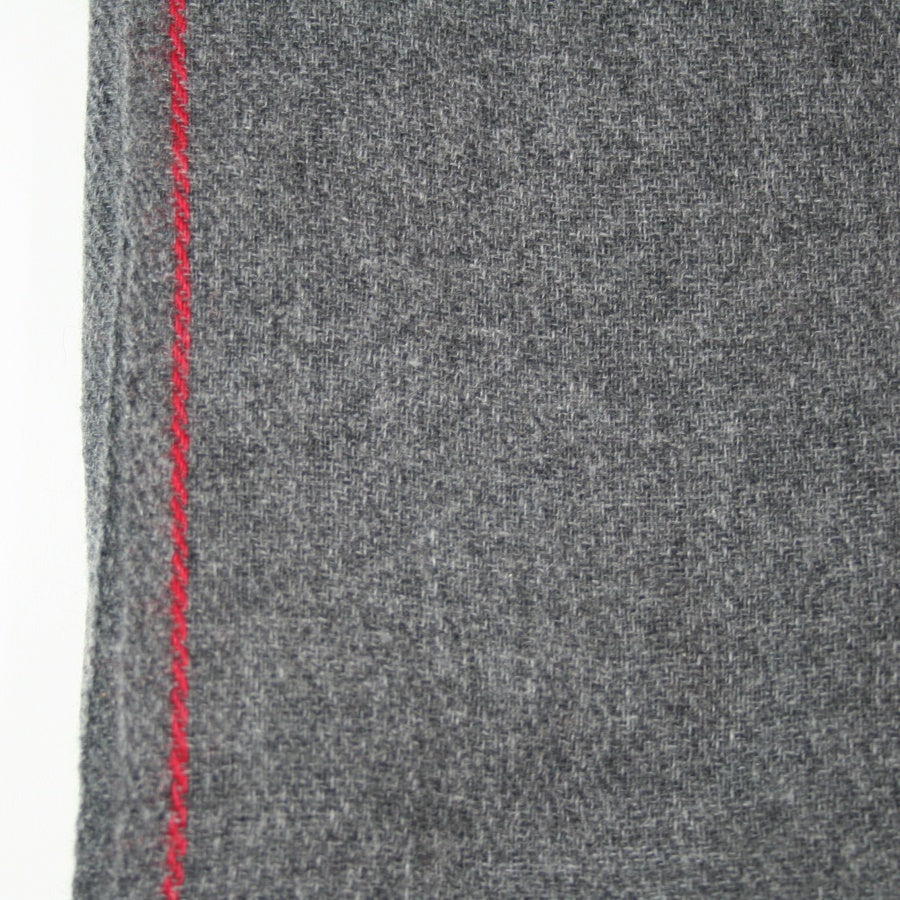 Handwoven Cashmere Shawl Charcoal
