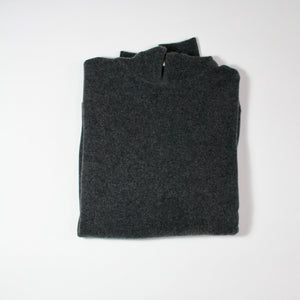 Mens 4 ply Cashmere Hoodie Charcoal