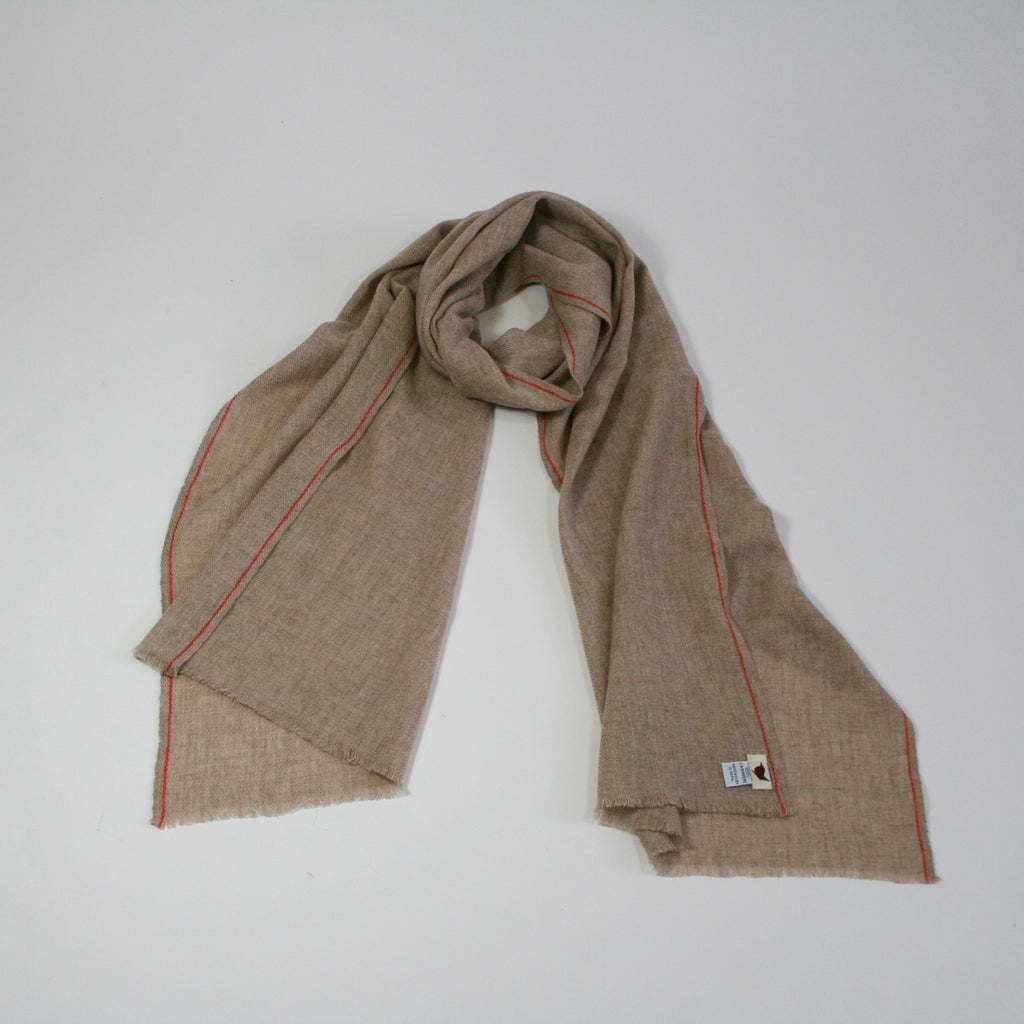 Handwoven Cashmere Scarf Oatmeal