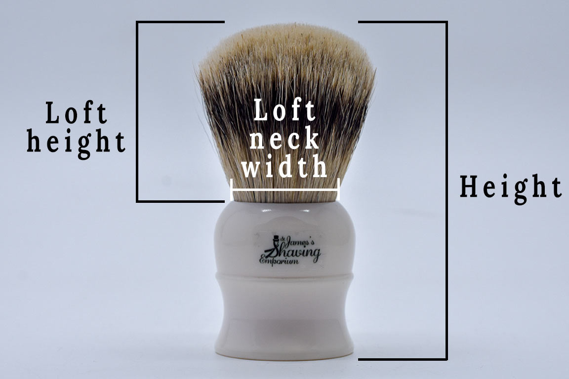 Shaving brush sizes
