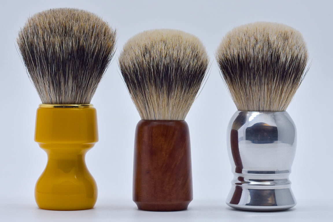 Shaving brush handle materials