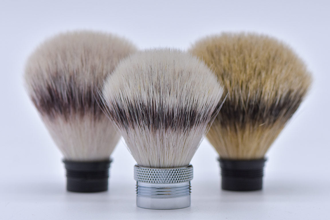 Synthetic shaving brush heads