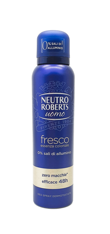 Neutro Roberts, Fresh DEODORANT AEROSOL SPRAY for Men 150ml