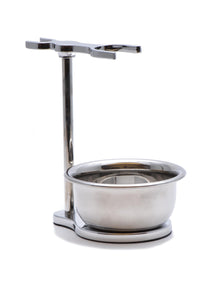 Muhle, CHROME SHAVING SET STAND FOR SOPHIST AND CLASSIC SERIES BRUSHES & RAZORS STAND WITH BOWL RHM9S Double Stand