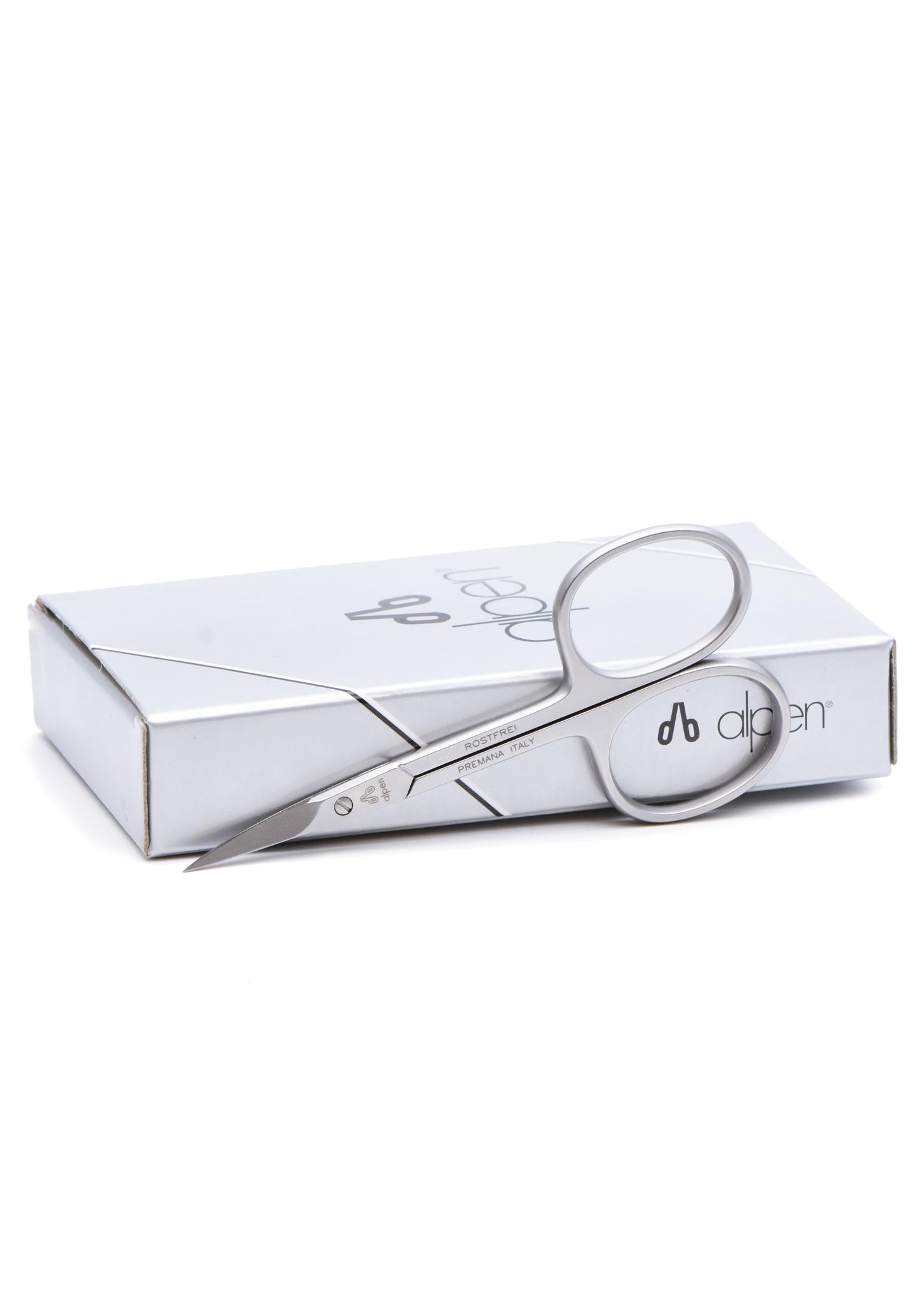 Alpen, CURVED CUTICLE SCISSORS Satin Inox